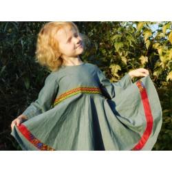 Dívčí šaty zelené