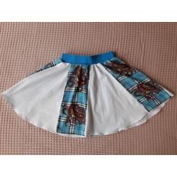 Dívčí sukně modro-bílá