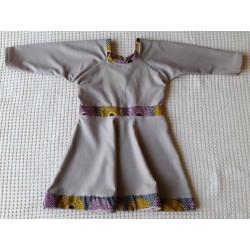 Dívčí šaty starorůžové