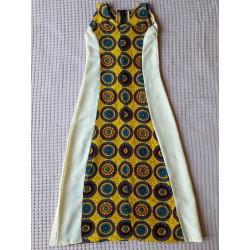 Dívčí šaty krémové - dlouhé